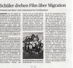Filmpremiere 2015 Rheinische Post -18.06.2015