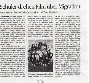 Filmpremiere 2015 Rheinische Post -18.06.2015
